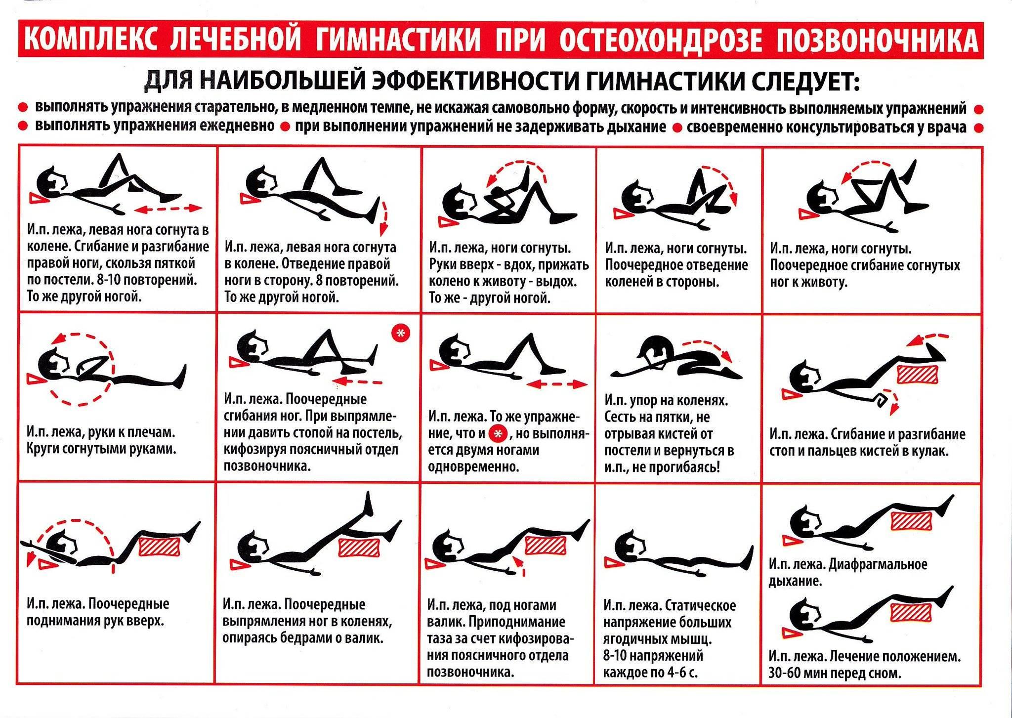 Упражнения при грудном остеохондрозе в домашних условиях с видео