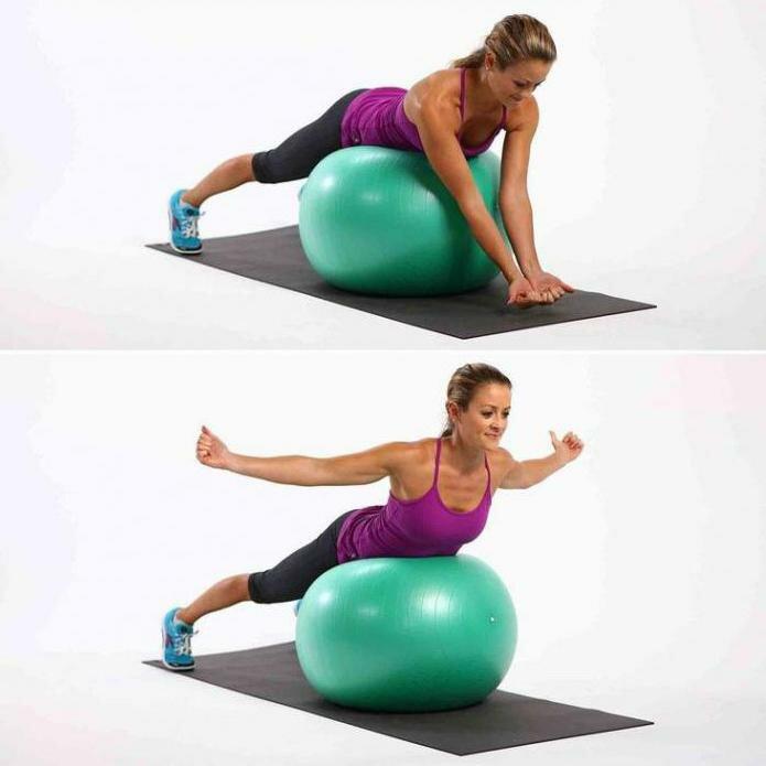 Упражнение для расслабления позвоночника на фитболе