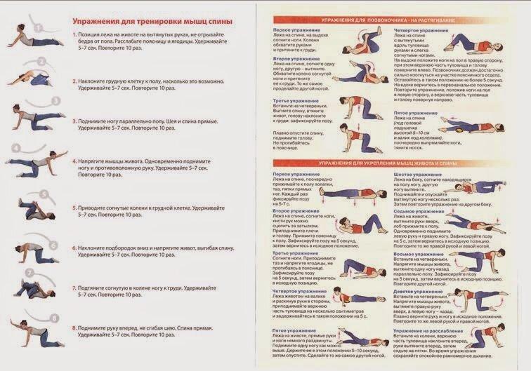Упражнения при грыже поясничного отдела позвоночника: особенности выполнения