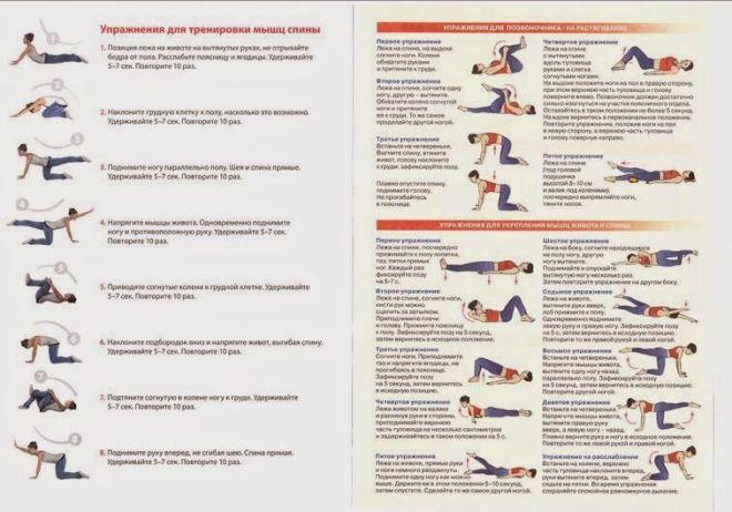 Комплекс упражнений при грыже позвоночника поясничного отдела